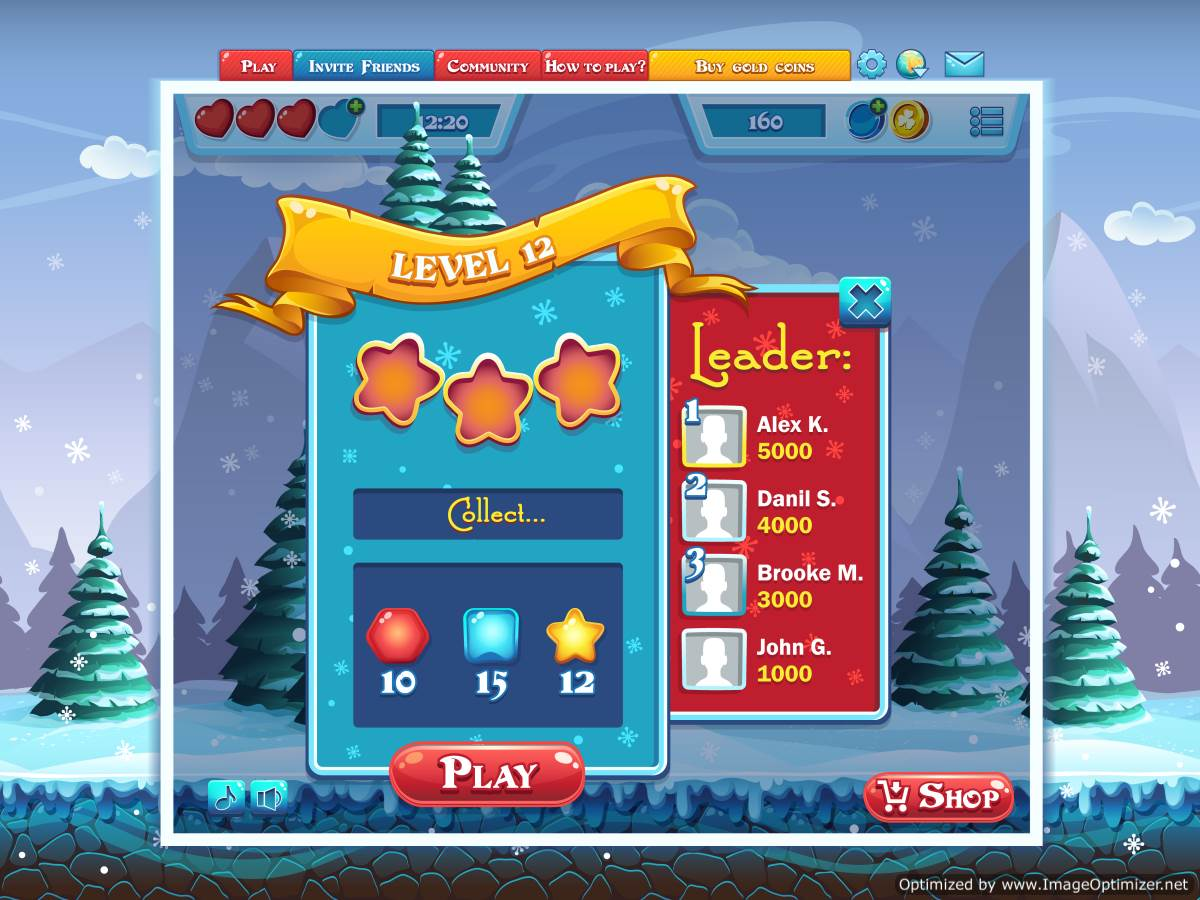 Example of computer game design