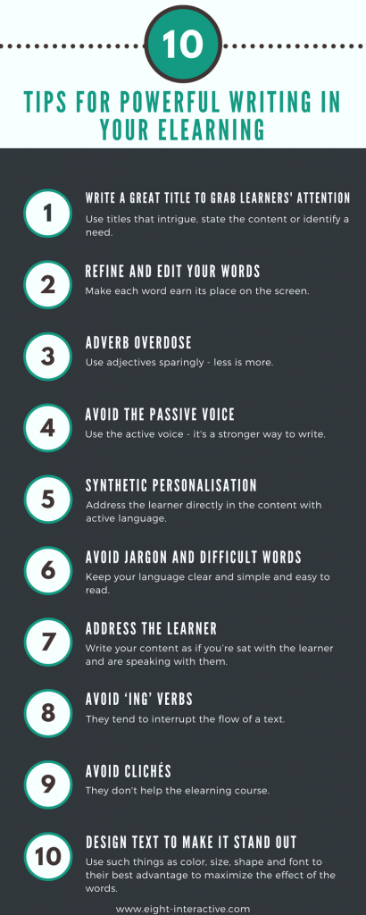 10 tips for writing in elearning