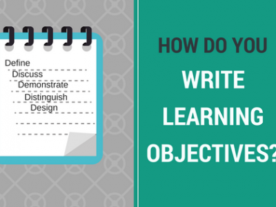 How write learning objectives
